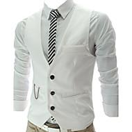 Men's Sleeveless Vest , Cotton/Polyester Formal Pure