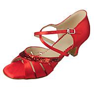 Sapatos de Dança ( Preto/Azul/Vermelho/Branco/Prateado/Dourado/Outro ) - Mulheres - Customizáveis -Ventre/Latim/Ioga/Sapatilhas de