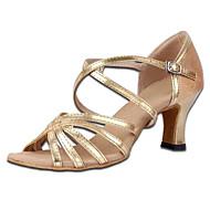 Non Přizpůsobitelné - Dámské - Taneční boty - Latina - Satén - Kubánské - Hnědá