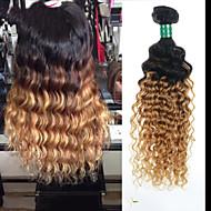 """3 pièces Lot 8 """"-28"""" brésilienne de cheveux vierge ombre # 27 profonde ondes brésiliens bouclés faisceaux de cheveux humains"""