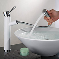 Shengbaier Multi-function Brass Pull out Spray Bathroom Sink Faucet