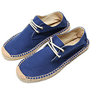 Men's Shoes Office & Career/Casual Canvas Loafers Blue/Green