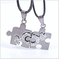 Tina -- Fashion All-match Titanium Pendant Couple Necklace in Daily