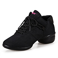 Non Customizable Women's Dance Shoes Belly / Ballet / Latin / Dance Sneakers Synthetic Chunky Heel Black / Red