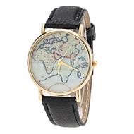 Women's  Watch World Map Pattern PU Band (Assorted Colors)