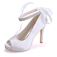 Women's Shoes Silk Stiletto Heel Peep Toe Sandals Wedding/Party & Evening  Wedding Shoes More Colors available