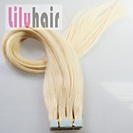 16inch -24inch 20st huid inslag tape-in real remy human hair extensions # 613 (bleekmiddel blond)