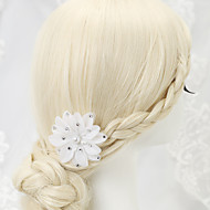 Women's/Flower Girl's Rhinestone/Imitation Pearl/Chiffon Headpiece - Wedding/Special Occasion Hair Clip 1 Piece