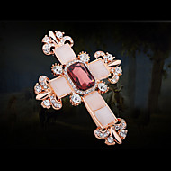 Women's Alloy Fashion Cross Wedding/Party Brooches & Pins With Crystal/Rhinestone