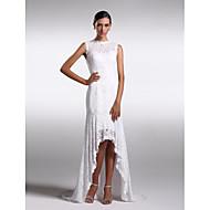 Serata formale Vestito A tubino Con decorazione gioiello Asimmetrico Di pizzo con Di pizzo