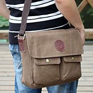 Men Canvas Casual Shoulder Bag Brown / Black