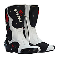 Motorcycle Racing Boots/ Cycling/Trail Running Riding Shoes/ Women's Shoes/Men's Shoes (Black/Red/White)