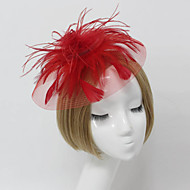 Women Feather/Net Bride Fascinators/Flowers With Wedding/Party Headpiece(More Colors)