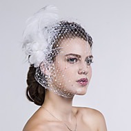 Women Feather/Fabric/Net Birdcage Veils With Imitation Pearl Wedding/Party Headpiece