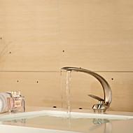 Moderne Centersat Enkelt håndtag Et Hul in Nikkel Børstet Håndvasken vandhane