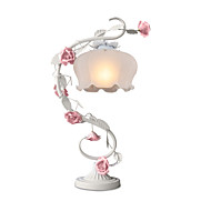 BOXOMIYA® Rural European Ornamental Flowers And Plants of Bedroom The Top of A Bed Lamp Roses Lamp