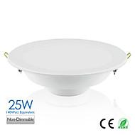 25W LED Downlights Recessed Retrofit 60 SMD 2835 2000 lm Warm White / Natural White AC 100-240 V 1 pcs