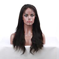 7a grado 8 '' - 24 '' remy virginal recta pelucas de cabello humano indios naturales del cordón de las pelucas delanteras con el pelo del