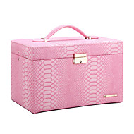 Classic Modern Jewelry Box Vintage Cabinet Storage Display DIY Organizer Gift PU Leather ZG091NEWS