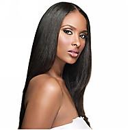 """10 """"-26"""" 100% de cabelo humano cabelo reto perucas completas do laço perucas de cabelo reto"""