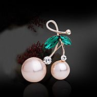 Women's Alloy Fashion Matching Casual/Party Brooches & Pins With Pearl/Rhinestone