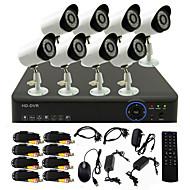 twvision® 8CH kanál 960h hdmi cctv DVR 8x venkovní 800tvl bezpečnostní kamerový systém