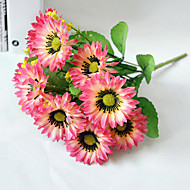 Poliéster Girassóis Flores artificiais