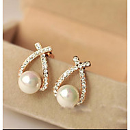 May Polly Are Starry diamond circular shell pearl earrings