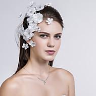 Capacete Flores Casamento/Ocasião Especial/Casual Tecido Mulheres Casamento/Ocasião Especial/Casual 1 Peça