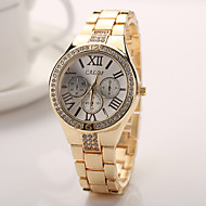 2015 Watch Women Fashion Silver Gold Rose Gold Color Steel Watch Band Watches Geneva Watches Men Luxury Brand