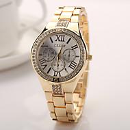 2015 mujeres del reloj de moda de oro rosa de plata banda de reloj de acero de color oro relojes de Ginebra relojes de marca de lujo de