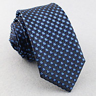 Mřížka - Kravaty ( Tmavě modrá , Polyester )