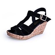 Women's Shoes  Wedge Heel Wedges/Heels/Peep Toe/Platform/Comfort/Open Toe Sandals Casual Black/Blue/Beige