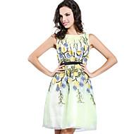 Cocktail Party Dress A-line Jewel Knee-length Charmeuse Dress