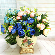 High Quality Artificial Flowers for Home Decoration Bright Color Camellias Silk Flower for Holiday Decorations