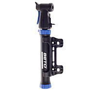 Bike Bicycle Cycling Mini Protable Air Pump Reinforced Aluminium Alloy Black with Blue