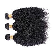 "3Pcs/Lot Brazilian Virgin Hair 100% Brazilian Remy Hair Kinky Wave 8""-30""Human Hair Extensions Natural Color"