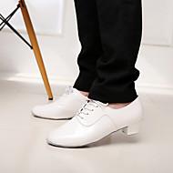 Non Customizable Men's Dance Shoes Latin/Salsa Leatherette Chunky Heel Black/Silver/Gold/White