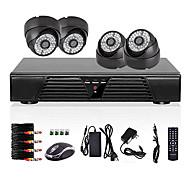 4ch plný d1 DVR detekce pohybu kamerový systém domácí bezpečnostní sada 800tvl noční vidění dome kamera