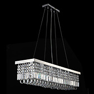 Living Room LED K9 Crystal Pendant Lights Ceiling Chandelier Lighting Hanging Lamp Fixtures with 90CM*25CM CE UL FCC