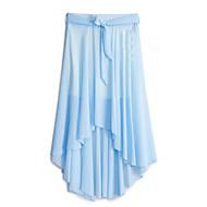Women's Casual Inelastic Thin Asymmetrical Skirts (Chiffon)