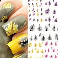 5 - 10.5X7X0.5 - Más - Virág/Absztrakt/Szeretetreméltő - Ujj/Toe - 3D-s körömmatricák
