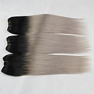 "3 Pcs/Lot+10""-18""+Indian (Italian) Virgin Hair+ color(1b/gray)+Straight.."