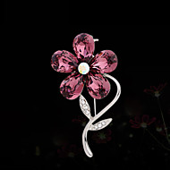 Women's Alloy Flower Casual/Party Brooches & Pins With Crystal/Rhinestone