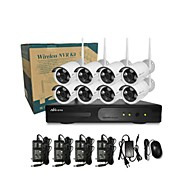 Ann® 8 CH H.264 Home Security System DVR Kit (Channel 8  IR-cut Outdoor Waterproof Camera, HDMI, USB  Wifi)