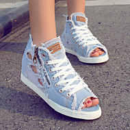 Women's Shoes Denim Flat Heel Gladiator/Comfort/Round Toe Flats/Fashion Sneakers Casual Light Blue/Dark Blue