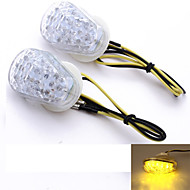 Motorcycle Amber 15 LED Turn Signal Light Bulb Indicator 12V  for Kawasaki (2 Pcs)