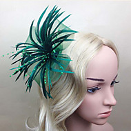 Women Feather Flowers With Wedding/Party Headpiece(More Colors)
