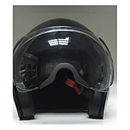 2015 New Carbon Fiber Motorcycle Helmet Open Face with Nonremovable Visor