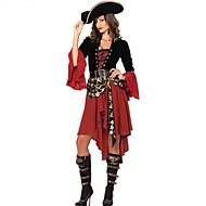 Noble Pirates Of The Caribbean Skull Halloween Costumes For Women(dress+hat)